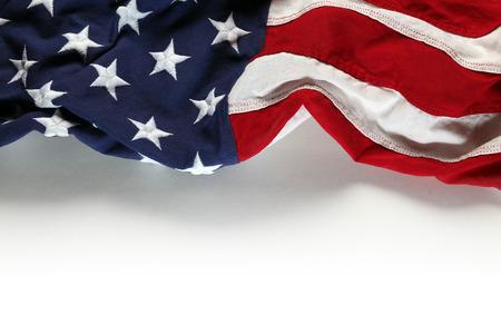 julio: Bandera americana para el Día de los Caídos o 04 de julio Foto de archivo
