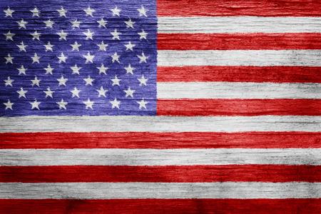 Worn vintage American flag background 写真素材