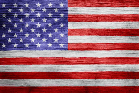 Worn vintage American flag background Standard-Bild