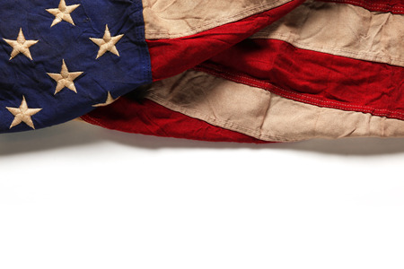 Old American flag background for Memorial Day or 4th of July Banco de Imagens - 40112777