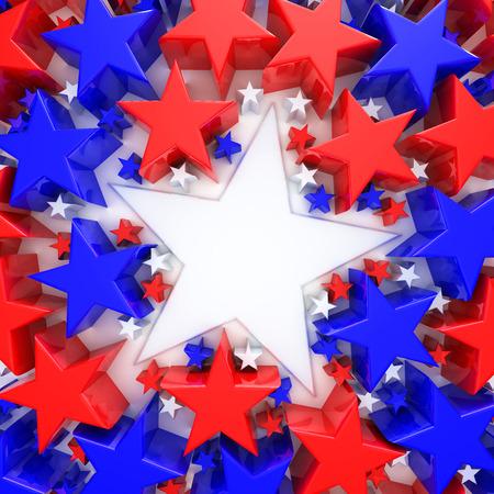 stelle blu: Stelle rosse, bianche e blu