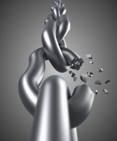 unleashed: Steel chain breaking