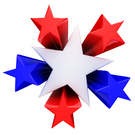 patriotic: Red, white and blue stars