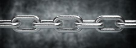 cadenas: Cadena de acero Foto de archivo