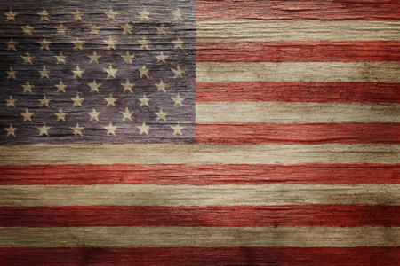 Worn vintage American flag background Foto de archivo