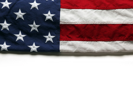 American flag for Memorial Day or 4th of July Foto de archivo