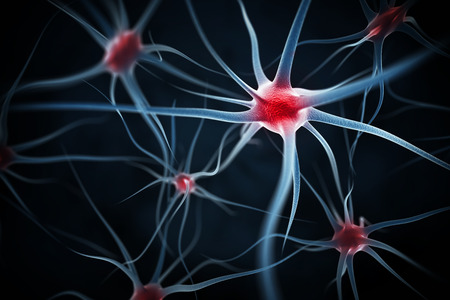 blood cells: Neurons abstract background Stock Photo