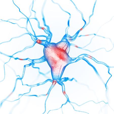 Neurons abstract background Foto de archivo