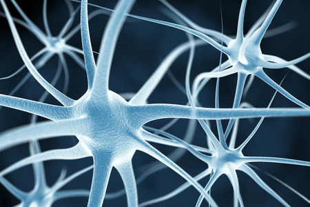dendrites: Neurons abstract background Stock Photo
