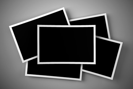 vintage photo: Stack of blank images