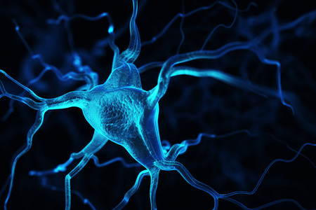 transmit: Neurons abstract background Stock Photo