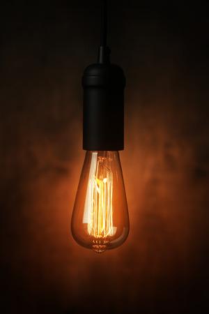 fluorescent light: Vintage light bulb