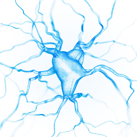 human energy: Neurons abstract background Stock Photo