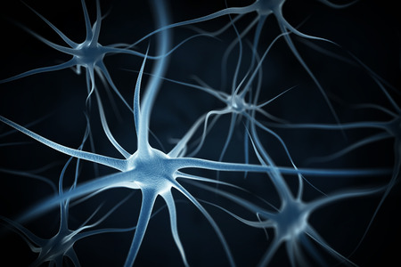 synaptic: Neurons abstract background Stock Photo