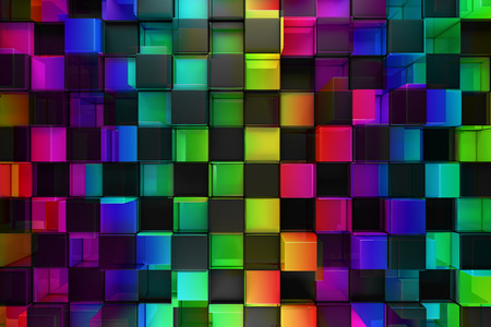 multicolored: Colorful blocks abstract background