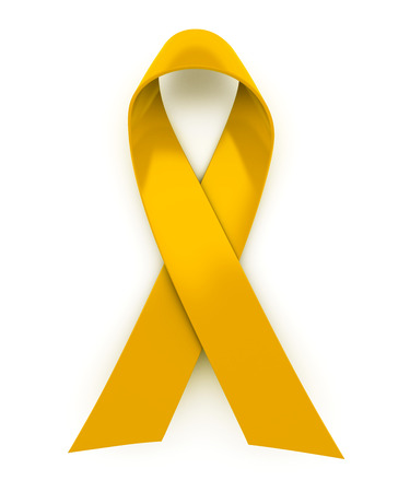 Shiny yellow ribbon Standard-Bild