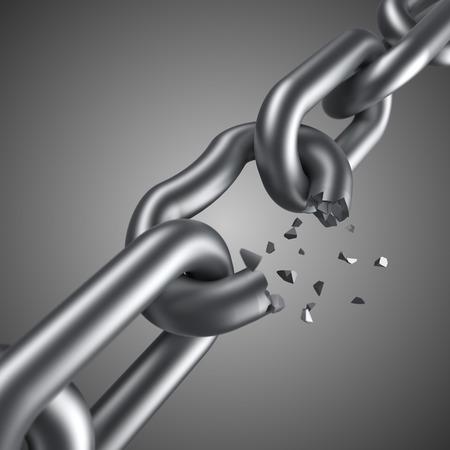 Steel chain breaking
