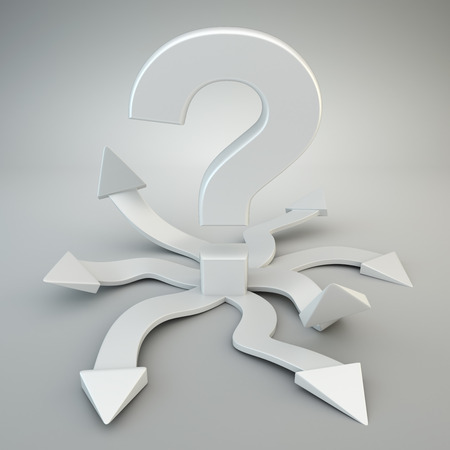 Question mark with many options
