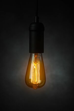 lamp light: Vintage light bulb