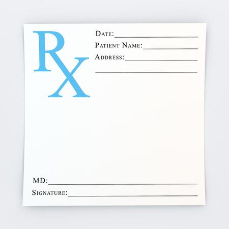 recetas medicas: Blanco de la prescripción
