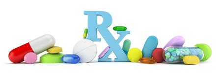 recetas medicas: Variedad de colores de los medicamentos con receta