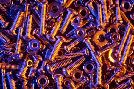 tuercas y tornillos: Tuercas y tornillos de fondo