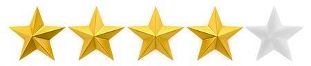 Één tot vijf sterren beoordeling Stockfoto