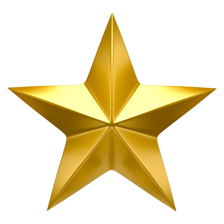 Golden star Foto de archivo