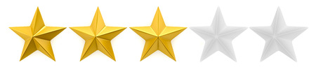 One to five star review 写真素材