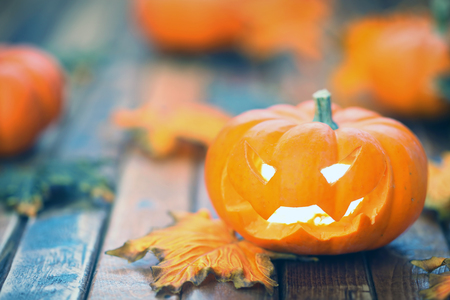 Halloween jack o lantern background Stock Photo