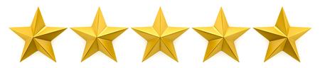 Evaluatie van één tot vijf sterren Stockfoto - 46575130