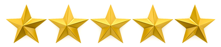 golden star: One to five star review Stock Photo