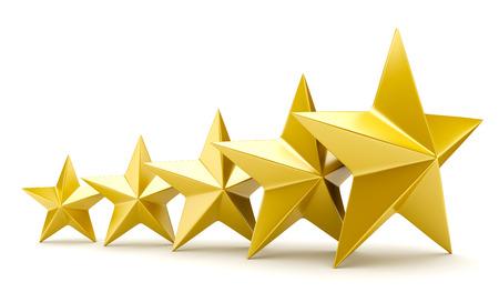 Glanzende gouden sterren Stockfoto