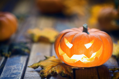 Halloween jack o lantaarn achtergrond Stockfoto