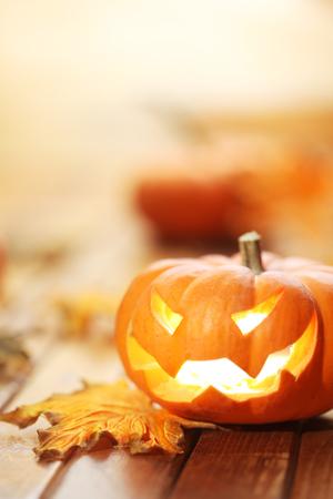 calabazas de halloween: Halloween Jack o 'fondo linterna