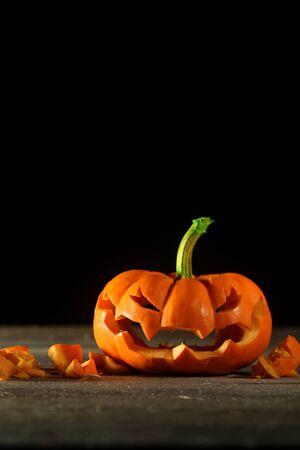 jack o' lantern: Carved Halloween jack o lantern