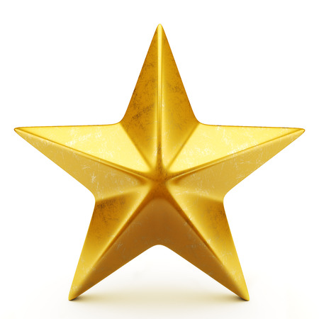 five stars: Golden star Stock Photo