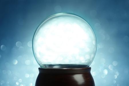 pelota: Globo vacío de la nieve de Navidad de fondo