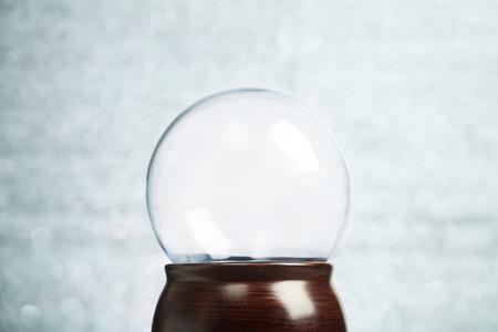 globo terraqueo: Globo vacío de la nieve de Navidad de fondo