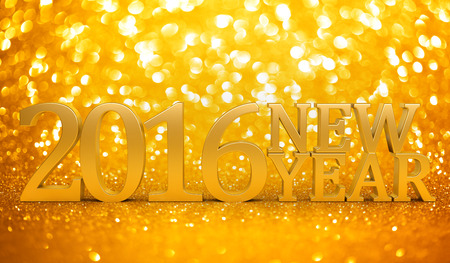 golden light: 2016 New years glitter background
