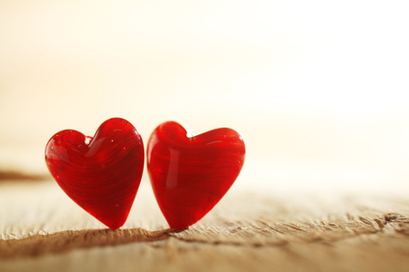 hearts: Bright red hearts background Stock Photo