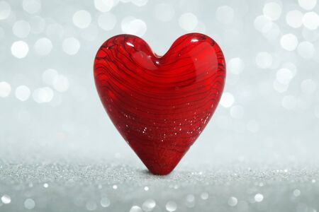 heart background: Shiny red heart background