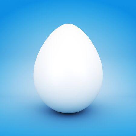 Blank white Easter egg Stock Photo - 55116681