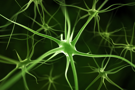 Neurons abstract background Stockfoto