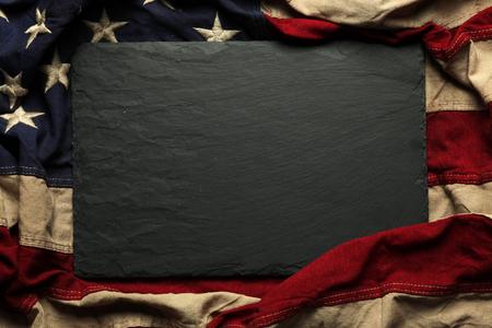 纪念日或7月4日的旧美国国旗背景