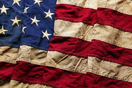 Oude Amerikaanse vlag achtergrond voor de Memorial Day of 4 juli Stockfoto
