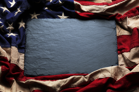 julio: Old American flag background for Memorial Day or 4th of July