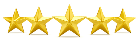 rating: Five star rating - shiny golden stars