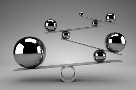 cromo: Concepto del balance Foto de archivo