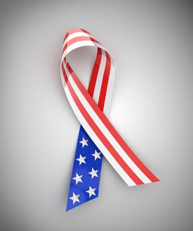 usa flags: USA ribbon - 3d rendering